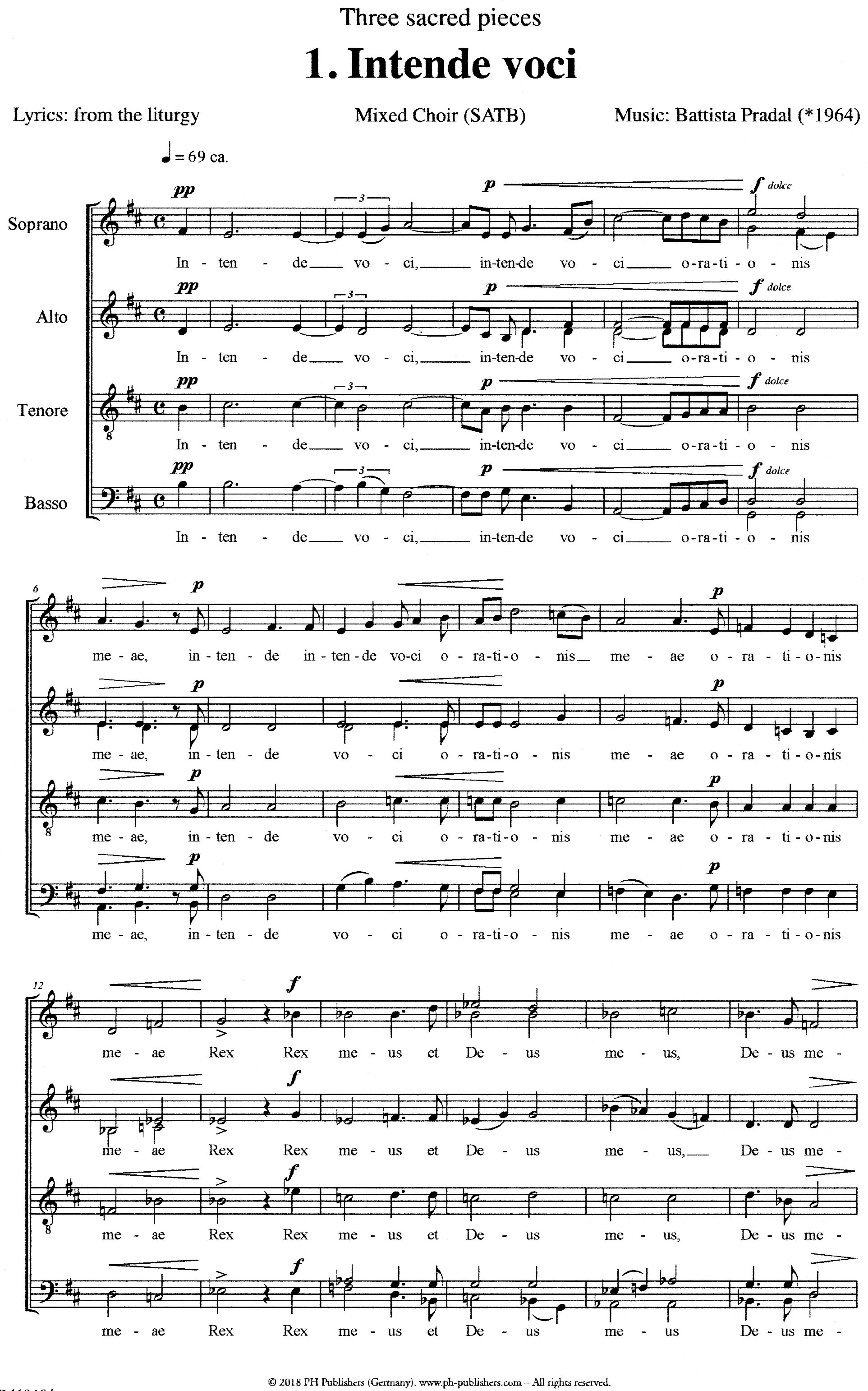 Intende voci - Show sample score