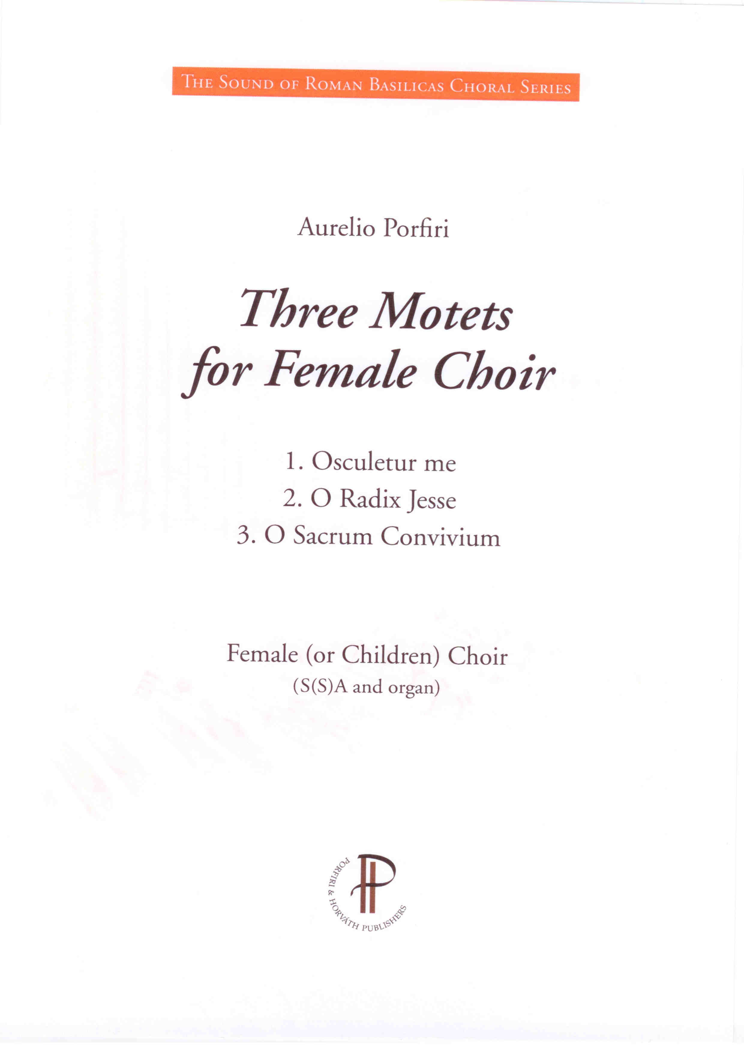 Three Motets for Female Choir
