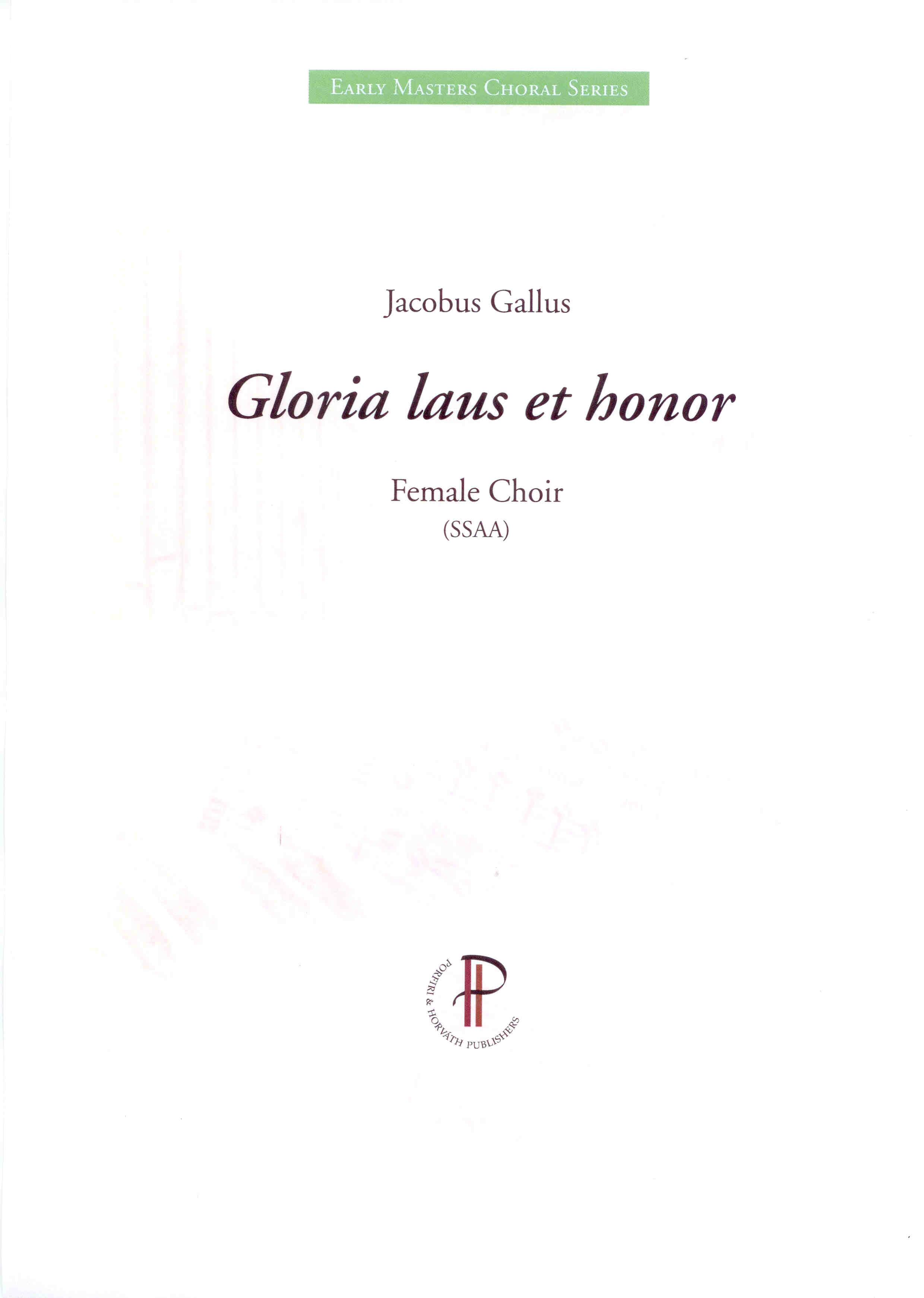 Gloria laus et honor - Probepartitur zeigen