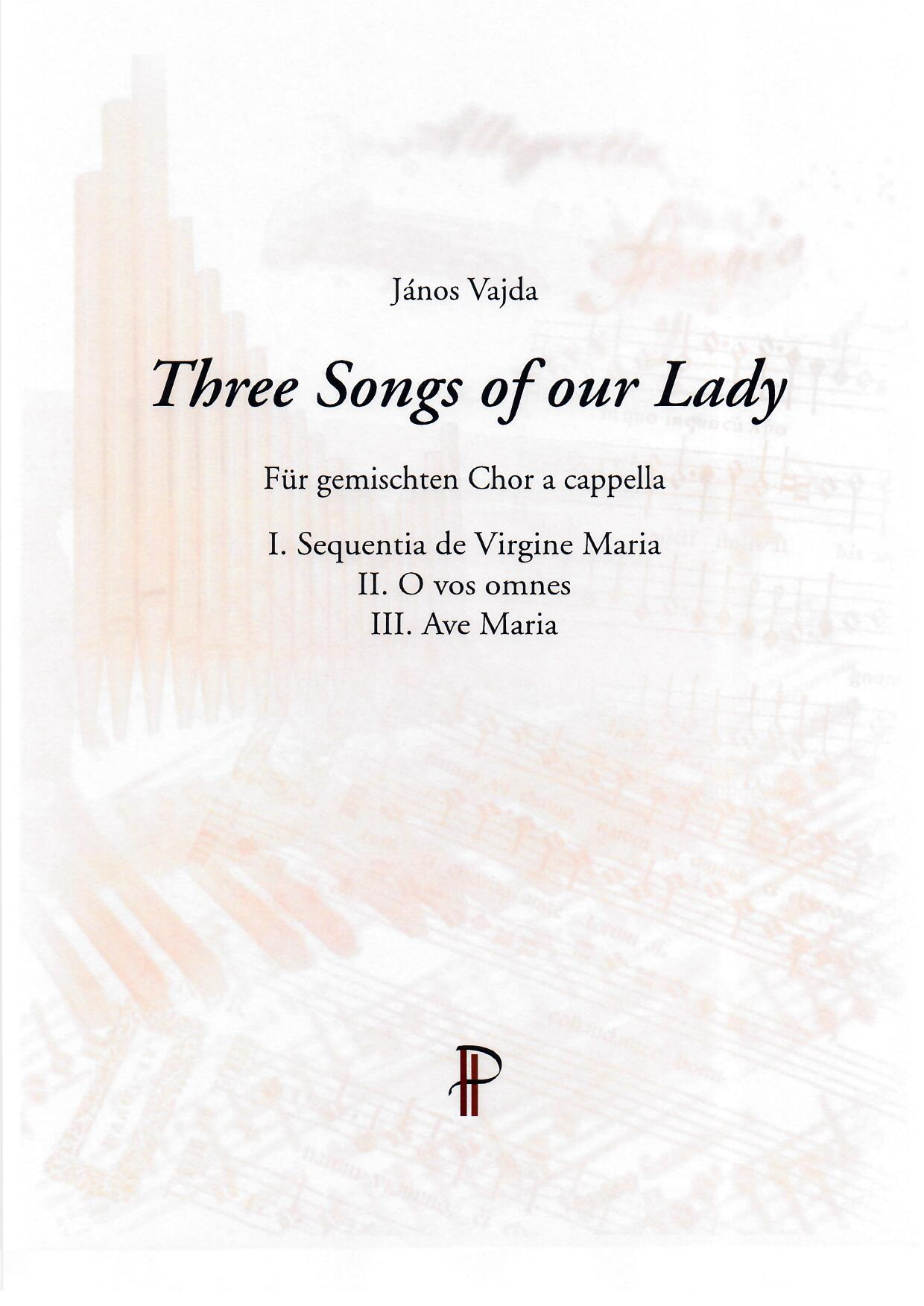 Three Songs of our Lady - Show sample score