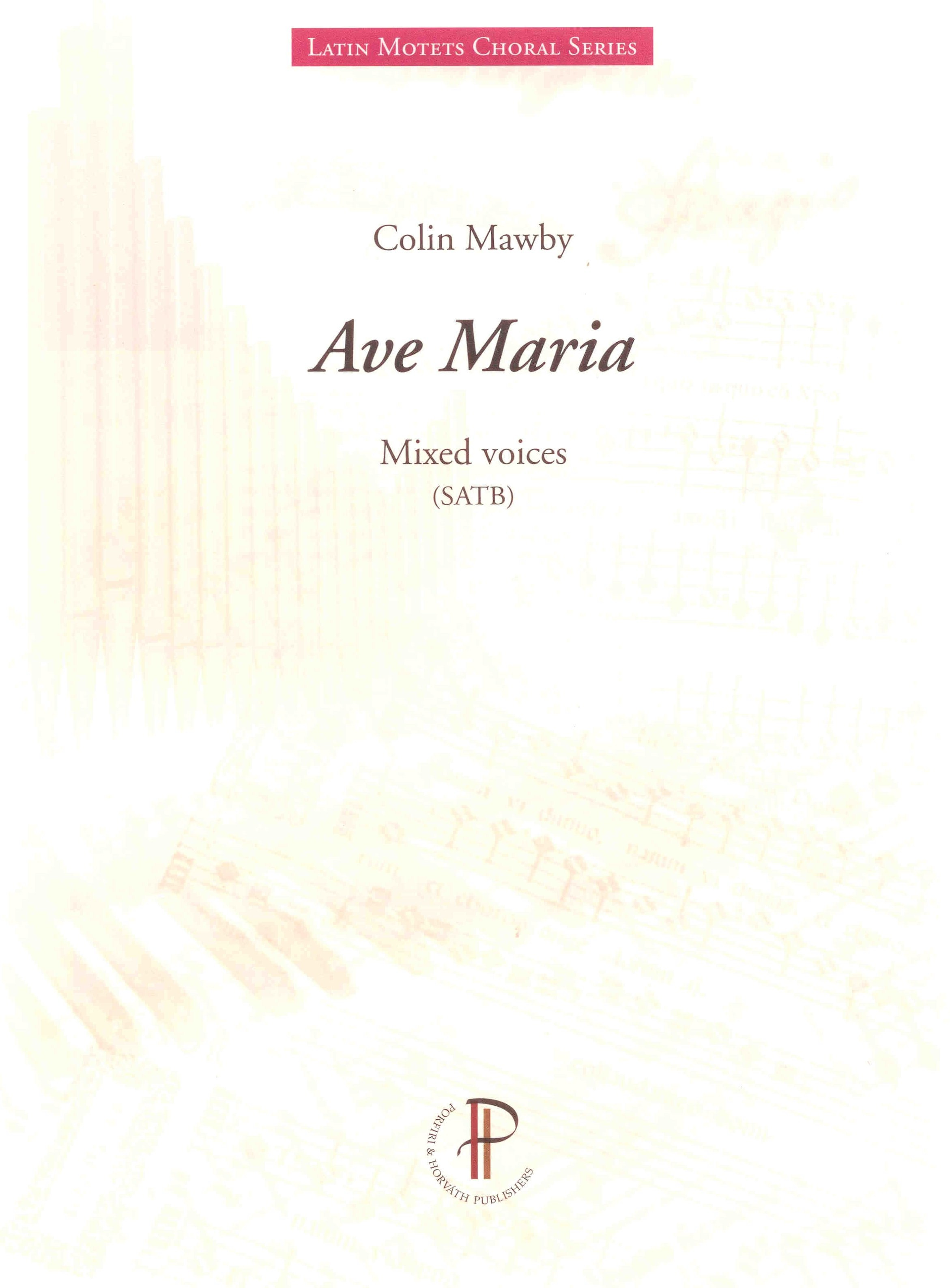 Ave Maria - Show sample score