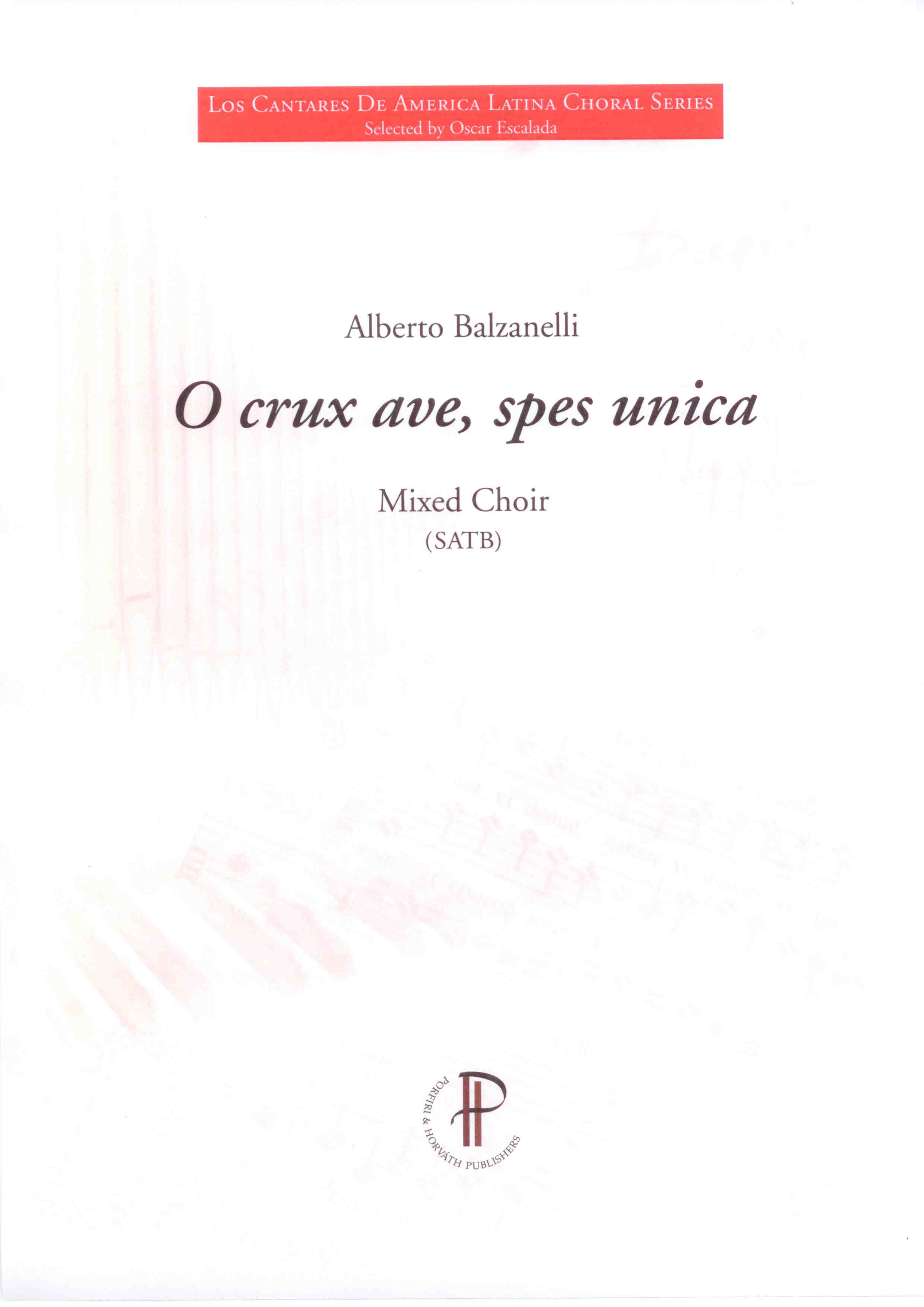 O Crux Ave, Spes Unica - Show sample score