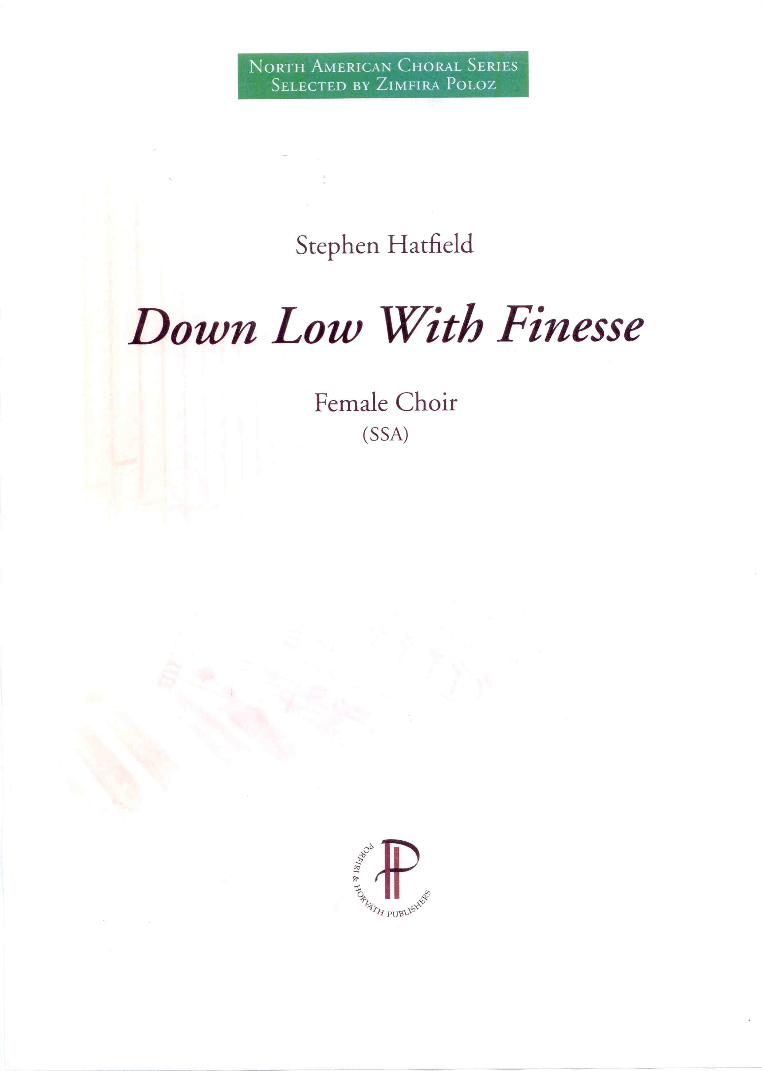 Down Low With Finesse - Show sample score